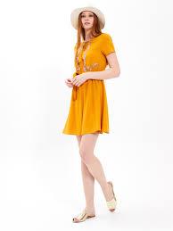 <b>Viscose</b> dress with <b>floral print</b>   GATE