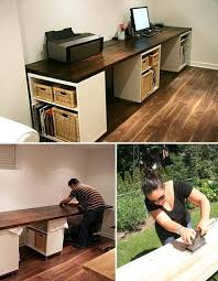 no business or home office is complete without an awesome customized desk for getting r done super desks can be expensive even from ikea so if youre amazing diy home office