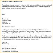 6+ response to job offer | Rejection letters response-to-job-offer-sample-job-offer-acceptance-