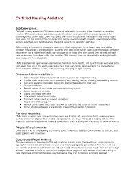 Certified Nursing Assistant Sample Resume Resume For Your Job