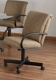 casual dining chairs with casters: the chromcraft like c swivel tilt caster chair made by tempo is available at www