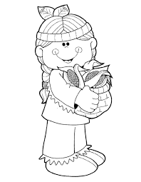 Small Picture Cute Indian Girl Thanksgiving Coloring Pages thankgivings