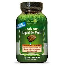 Irwin Naturals <b>Only One Liquid-Gel Multi</b> with Iron 60ct