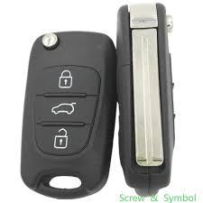 Replacement 2 <b>3 Button Folding</b> Car <b>Remote</b> Flip Key Shell Case ...
