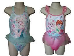 Disney <b>Frozen Elsa Anna Girl's Swimsuit</b> One Piece Swimming ...