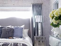 gray bedroom with mirrored furniture and menswear accents bedroom with mirrored furniture