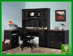 black computer desk with hutch black computer desks