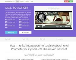Landing page responsive video Bootstrap 3.0. | Bootstraptor ...