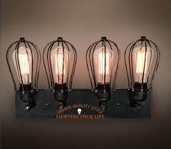 vintage style bathroom lighting. 2014 New Antique Bathroom Black Wall Sconce Lamp 4 Light Industrial Midcentury Edison Steampunk Square Plate Vintage Style Lighting