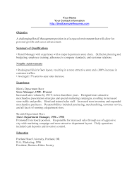 objective line for retail manager resume equations solver cover letter resume exles retail management summary