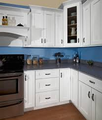 blue kitchen cabinets small painting color ideas: cool shaker style kitchen blue brown cabinets attractive brown painting
