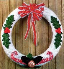 Image result for crochet christmas wreath