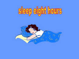 Image result for 8 hours sleep