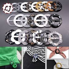 New <b>10pcs/lot round flower</b> resin belt buckle for women T shirt dress ...