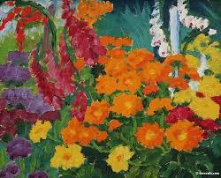 <b>Flower garden</b> (marigolds) - Эмиль Нольде