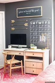 modern home office create a cohesive statement by picking a metallic accent color and using brightly colored offices central st