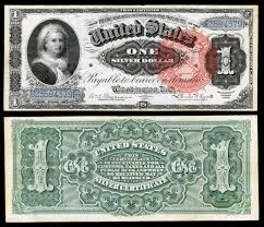 united states one dollar bill series of 1886 1 silver certificate featuring martha washington