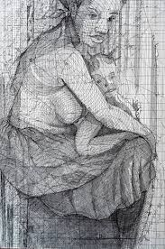 Mother And Child / Mother's Love / <b>100</b>% <b>handmade</b> Drawing by ...