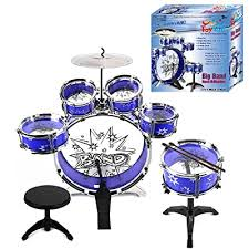 <b>Durable Plastic</b> with Easy Touch Button WolVol Kids Drum and ...