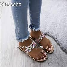 Vinapobo <b>Fashion Women Slippers</b> Bling Brand <b>Slipper</b> Flat Casual ...