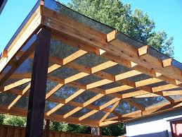 deck cover idea with wooden brown covers outdoor patio