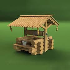 <b>Деревенский</b> колодец - <b>сборная деревянная модель</b>.