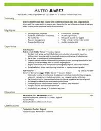 teacher resume sample template teacher resume templates
