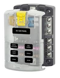 blue sea fuse box the blue sea systems fuse box boasts both positive and negative bus posts to make electrical installation a far simpler task run a single positive supply