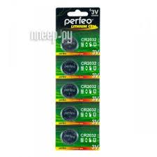 <b>Батарейка Perfeo CR2032/5BL Lithium</b> Cell