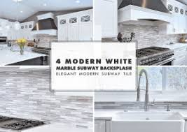 subway tiles tile site largest selection: white modern kitchen with marble subway tile