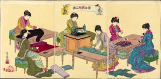 mit visualizing cultures ldquoillustration of ladies sewingrdquo by adachi ginkaring141 1887 11 18172 74 museum of