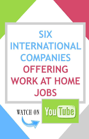 best images about make money online work from 6 international companies offering work at home jobs watch on