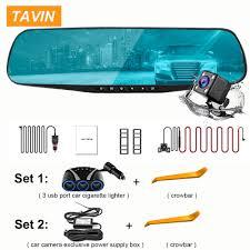 <b>TAVIN</b> 4.3'' FHD 1080P <b>Dual</b> Lens Car DVR Mirror <b>Dash Cam</b> auto ...