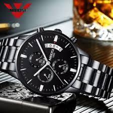 relogio masculino nibosi mens watches waterproof fashion sport quartz men watch top brand luxury full steel business