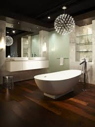 bathroom ceiling globes design ideas light: bathroomstunning bathroom with textured wall also freestanding bathtub and globe pendant light for bathroom