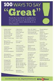 ways to say great poster writeathome posters the writer 100 ways to say great poster writeathome posters