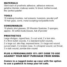 prosthetic makeup fx kit middot