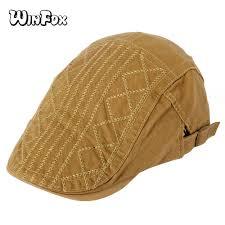 <b>Winfox Fashion</b> Adjustable Plaid Striped Navy <b>Red</b> Black Berets ...