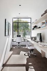16 simple but awesome home office design ideas for your inspiration awesome office narrow long