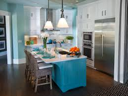 blue kitchen cabinets small painting color ideas:  amazing small kitchen island designs seating photos blue painted wood kitchen island brown rattan high back