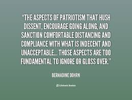 The aspects of patriotism that hush dissent, encourage going along ... via Relatably.com