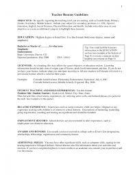 Elementary Teacher Resume Sample Outline Research Paper Teacher