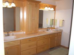 affordable lowes bathroom furniture design in natural oak large cabinet vanities with white tops double round sinks and decorative 3 bath vanity lightsjpg affordable contemporary vanity lights