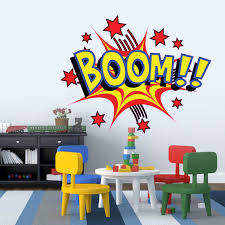 Small Picture Large Cartoon Boom Comic Book Kids Vinyl Girls Room Boys Room Baby