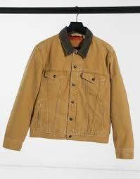 <b>Levi's lined</b> canvas <b>trucker</b> jacket in dijon tan | Saluscampusdemadrid