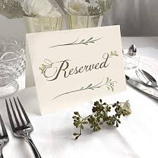 4 Pack- Rustic Ivory Reserved Wedding Table Signs ... - Amazon.com