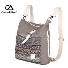 <b>Canvasartisan</b> top quality <b>women canvas backpack</b> bookbag female ...
