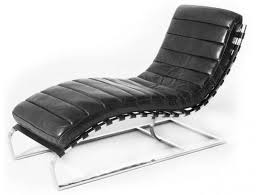 Lounge chair - <b>relax armchair</b>, <b>black</b> leather and chromed metal