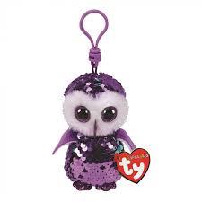 Мягкая <b>игрушка</b>-<b>брелок TY</b> Фиолетовая сова Moonlight купить по ...