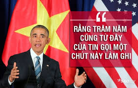 Image result for pictures of obama đọc diễn văn, hà nội 2016